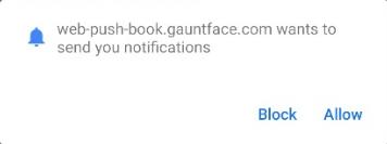 Show Notification Request