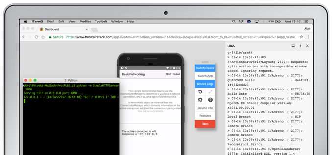 Localhost website testing